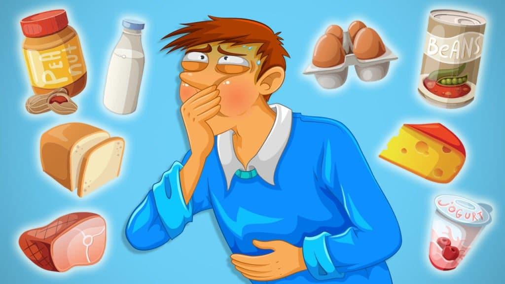 Food Sensitivity Cartoon