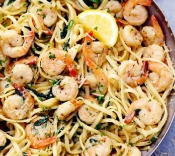 Lemon Parmesan Shrimp Pasta