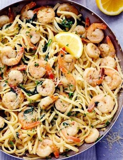Lemon Parmesan Shrimp Pasta