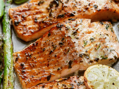 Lemon Garlic Baked Salmon