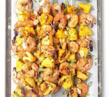 Grilled Shrimp & Pinneaple Skewers
