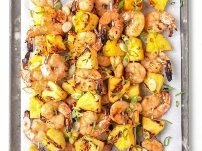 Grilled Shrimp & Pinneaple Skewers